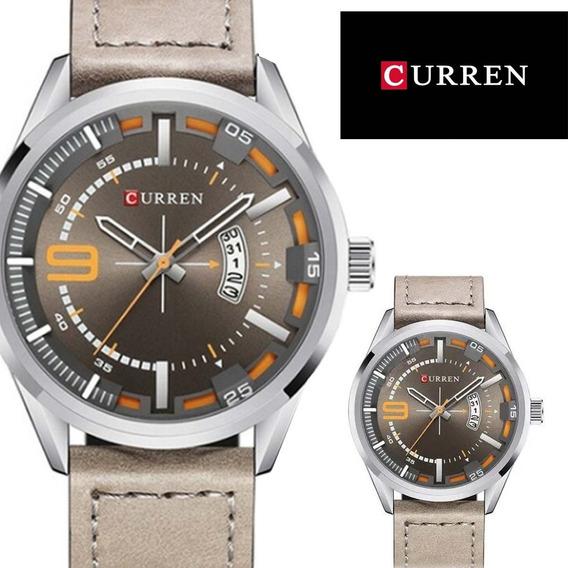 Relógio Masculino Luxo Moda - Pulseira De Couro