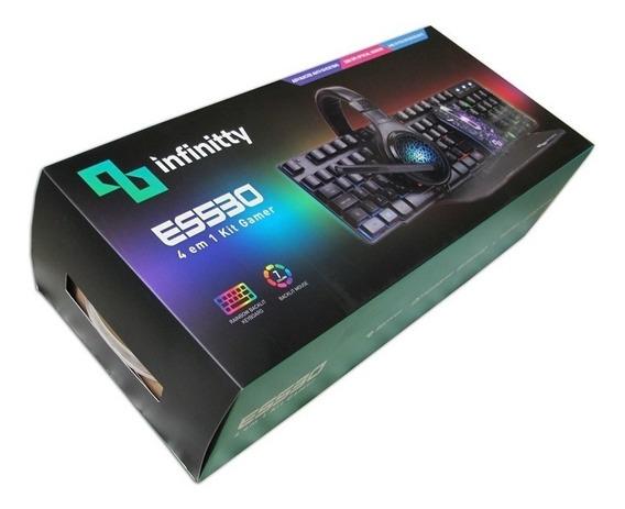 Kit Gamer 4 Em 1 (teclado + Mouse + Fone Ouvido + Pad Mouse)