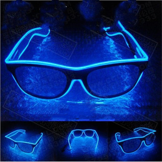 Óculos Neon Led Festa Balada Rave Tomorrowland A Pilha