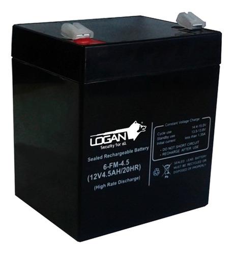 Bateria De 12v 4.5ah Ups Logan Alarma Cercos Eléctricos Bagc