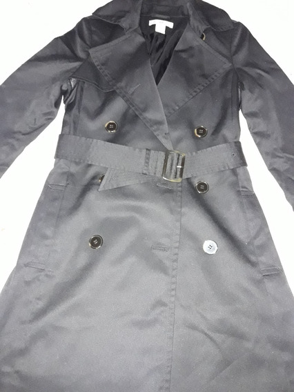 Elegante Trench Coat Preto - Loja H&m De Miami - Tam. 36/38!