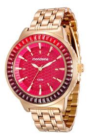 Relógio Mondaine Feminino Glamour 76624lpmvde2 Gold