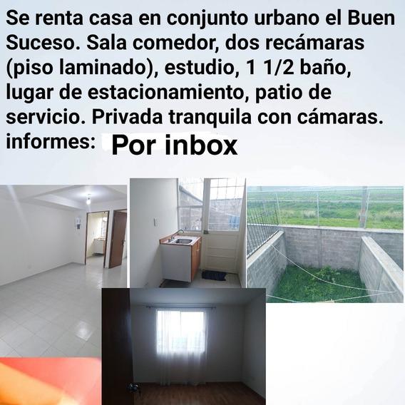 Casa De Dos Pisos, 2 Recamaras, 1 Estudio, 1 1/2 Baños Etc.