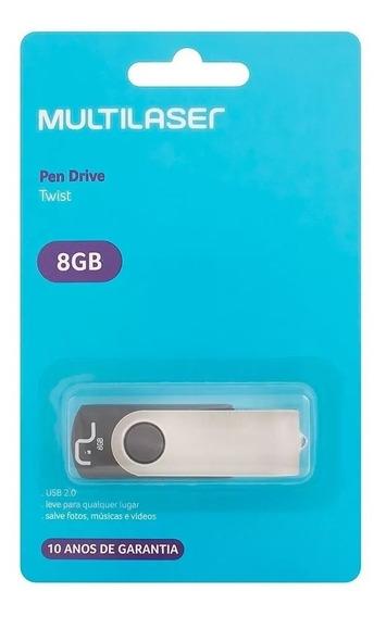Kit Com 10 Pen Drive 8gb Multilaser Original Lacrado Atacado