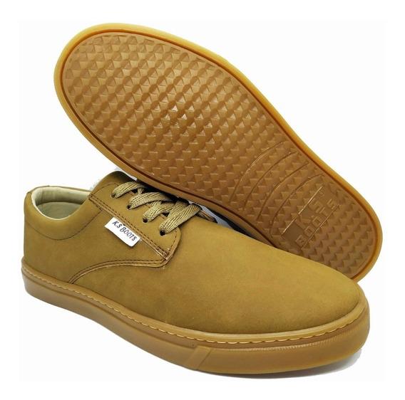 Tênis Sapatênis Casual Masculino K.s Boots Original Promoção Com Nota Fiscal