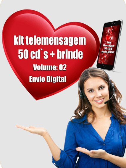Pack 50 Cd´s Telemensagens Envio Via Email Frete Grátis