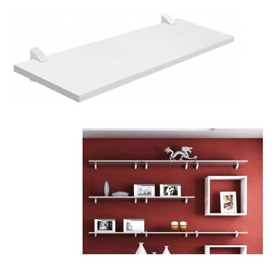 Prateleira Concept Parede Branco 60x25cm Porta Retratos Livros Brinquedos Quadros Madeira Mdp Pratk