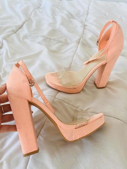 Zapatos Clear Tira Transparente Importado