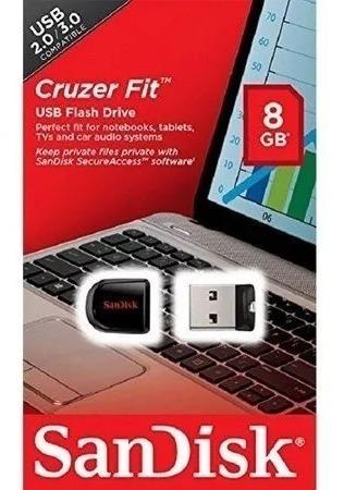 Pen Drive Sandisk 8gb Cruzer Fit Usb 2.0/3.0