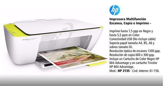Impressora Hp 2135 Multifuncional Bivolt Tri-color
