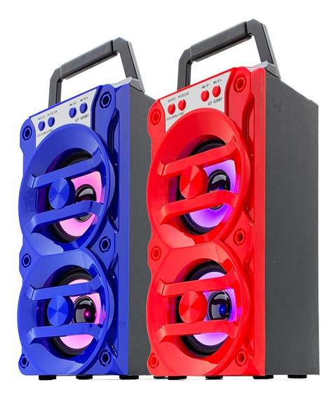 Kit 2 Caixa Som Bluetooth Amplificada Torre Mp3 Fm Usb 500w
