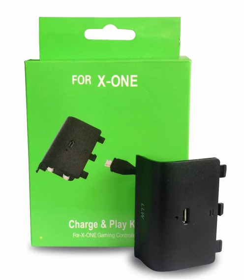 Bateria E Cabo Carregador Controle Xbox One Charge Play Kit