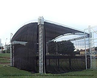Tela Preta Proteção Palco Tenda Evento Cobertura 12x5,5 M