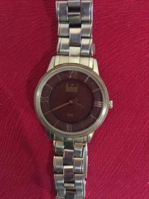 Relógio Dumont Original Foleado A Ouro Super Slim