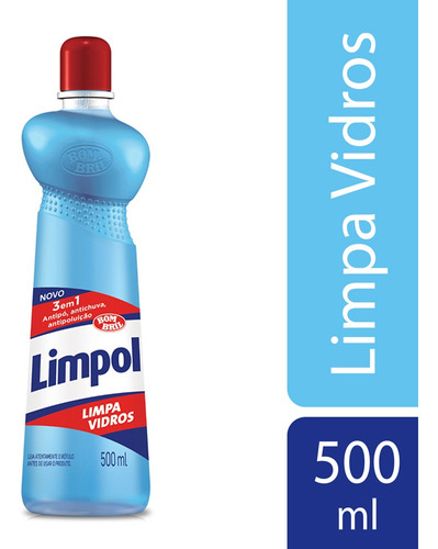 Limpa Vidros Limpol 3 Em 1 Squeeze 500ml