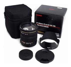 Sigma 17-50mm F/2.8 Dc Ex Os Hsm Autofoco+estab Imagem Canon