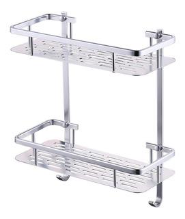 Repisa Ducha Estante Baño Duchero Aluminio Inoxidable 81066
