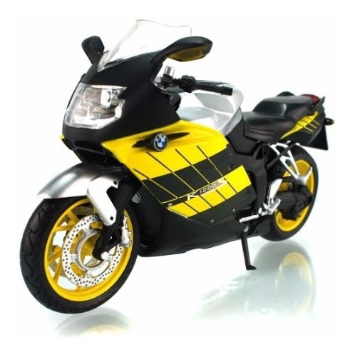 Miniatura Moto Bmw K1200s Amarela 1/12