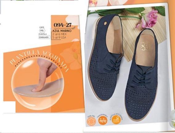 Zapato Casual Para Dama Azul Marino 094-27 Cklass 8days M