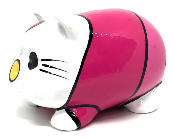 Alcancía Hello Kitty Cerdito Puerquito Barro Ceramica
