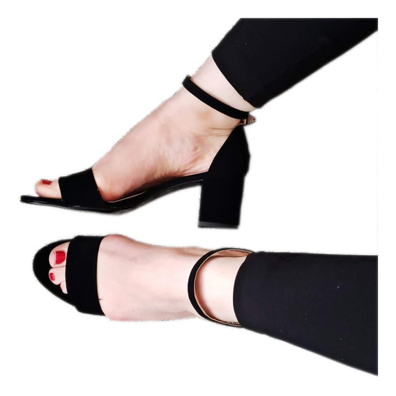 Sandalias Tacon Bajo Zapatillas De Moda Para Mujer