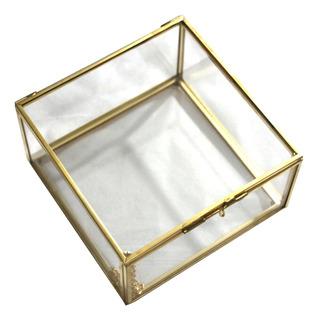 Caja Recipiente Adorno De Mesa Para Joyas De Vidrio Terraio