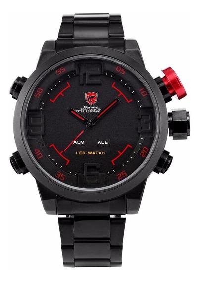 Relógio Masculino Esportivo Shark Original Promoção C/estojo