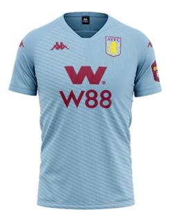 Camisa Do Aston Villa 2019/2020 Oficial Azul - Mega Promoção