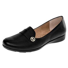 Zapatos Casual Flats Vicenza Dama Piel Negro 25137 Dtt