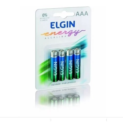 Pilhas Alcalinas Elgin - Aaa Palito 1,5v Blister C/ 4 Un.