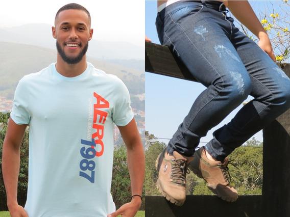 Camiseta Aeropostale + Calça Wordmif 28 Consulte Variação