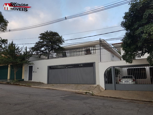 Sobrado Alto Padrão Em São Paulo Bairro Granja Julieta Com 4 Suites Sendo 1 Master Com Closet E Hidro , Piscina - Ca01211 - 34835286