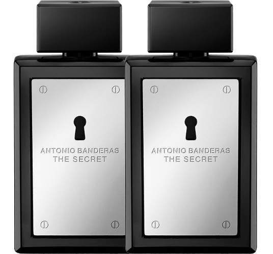 02 Perfumes The Secret 2x100ml Edt Antonio Banderas Original