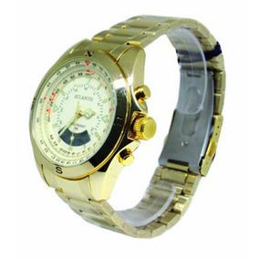 Relógio Atlantis Resistente A Água Branco G3389