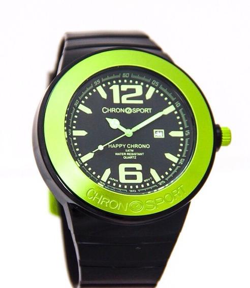 Reloj Chronosport New Happy Negro/amarillo Tienda Oficial