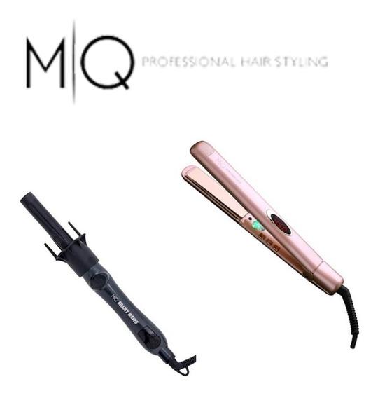 Kit Profissional Mq Prancha + Modelador De Cachos Mq
