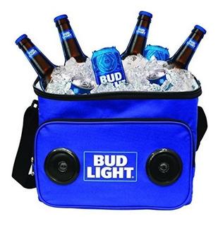 Bud Light Soft Cooler Altavoz Bluetooth Portátil De Viaje R