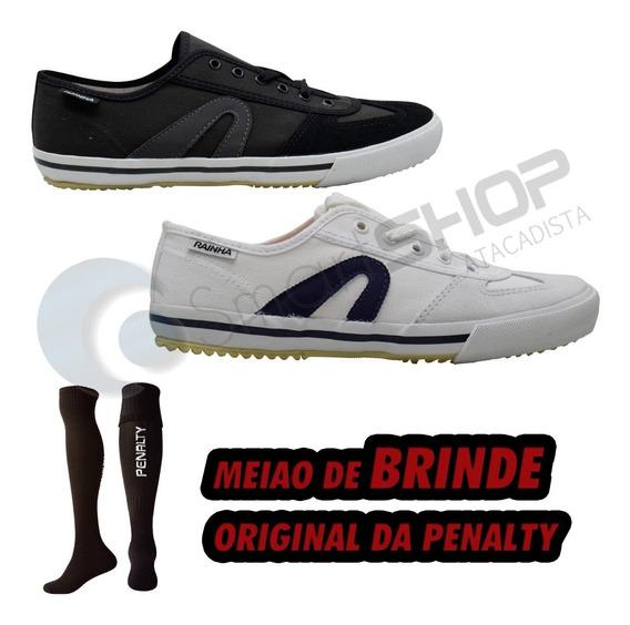 Tênis Futsal Rainha Preto / Branco Vl2500 Masculino Feminino