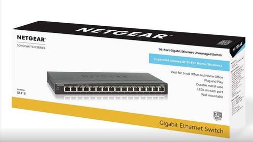 Imagen 1 de 2 de Switch Netgear 16 - Puertos Gigabit Gs316