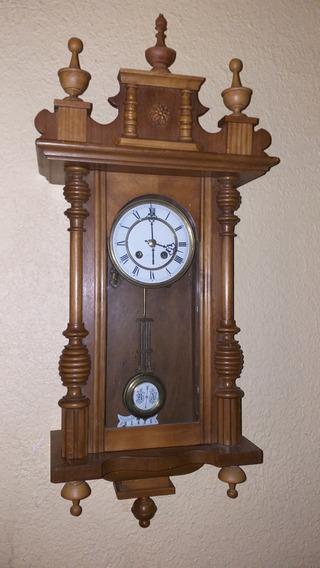 Antiguo Reloj De Pared Origen Aleman