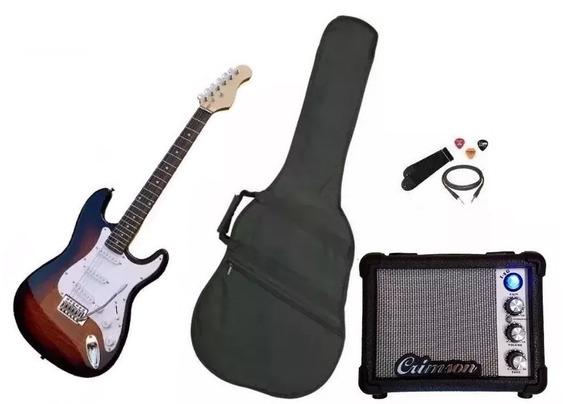 Combo Guitarra Eléctrica Para Empezar + Amplificador Crimson