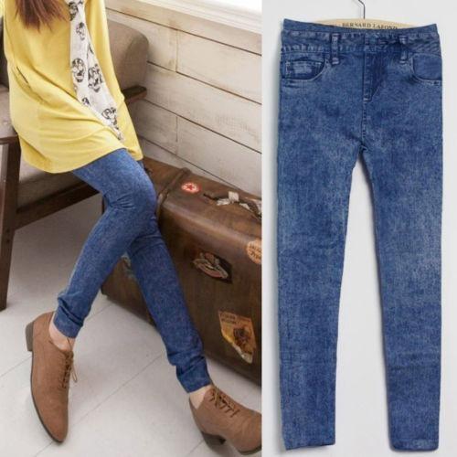 Calça Leggings Imita Jeans Importado