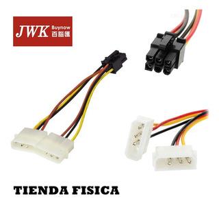 Cable De Poder 6 Pin Adaptador Para Tarjetas De Video Jwk