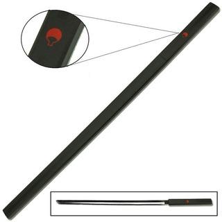 Espada Sasuke Naruto Cosplay Aço Negro Bainha Madeira Preta