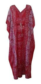 Vestido Kaftan Indiano Tamanho Único Veste P,m,g,gg