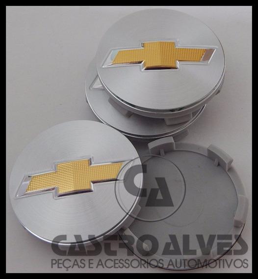 Kit Calota Miolo Roda Esportiva Scorro S242 Gm 5,6cm - 4 Pçs