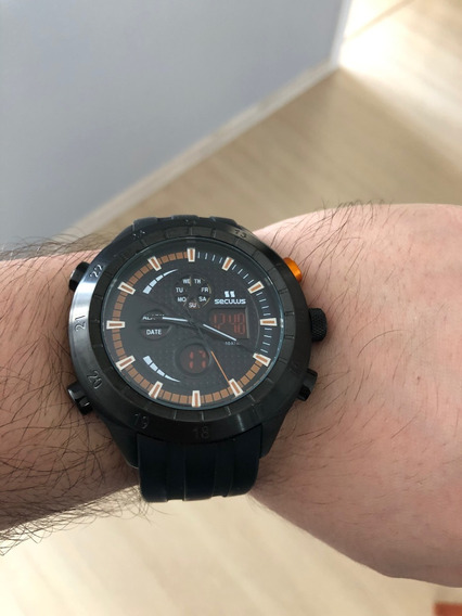 Relógio Masculino Anadigi 20221 Seculus - Preto