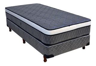 Sommier Viggo Dual Relax 1 1/2 plaza 190x90cm gris