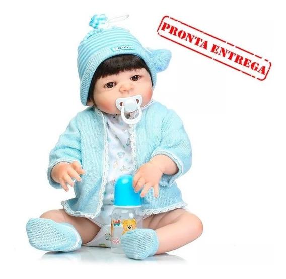 Bebê Reborn Menino Silicone Pronta Entrega Frete Grátis