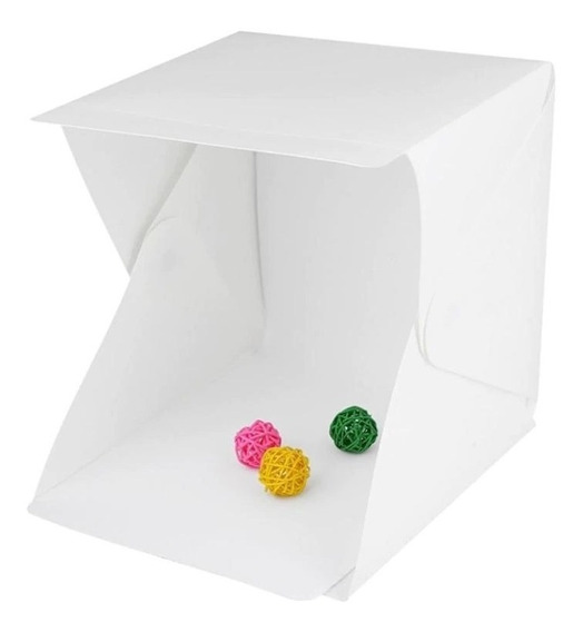 Mini Estúdio Fotográfico Photo Box Dobrável 20 Leds 22cm